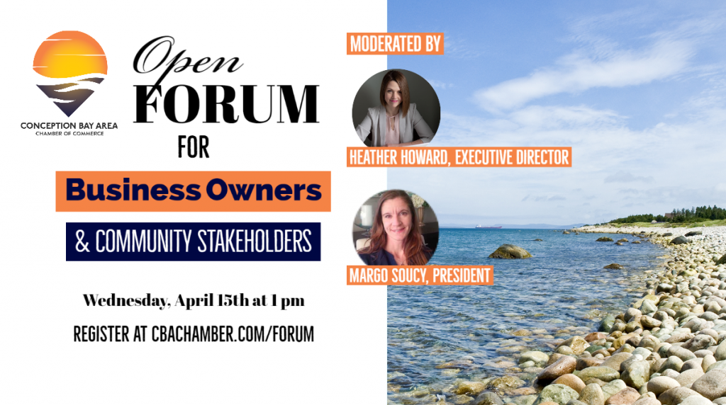 April 15th 1pm : Open Forum for Business Owners & Stakeholders