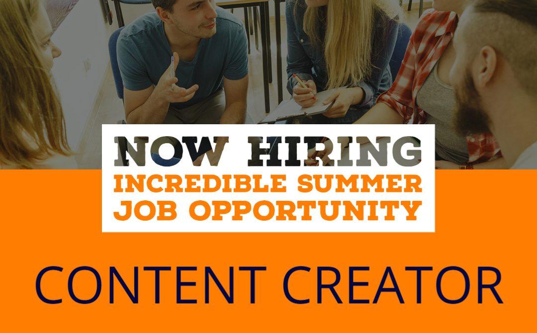 Student Summer Job: Content Creator